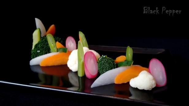 Диетический салат к рыбе