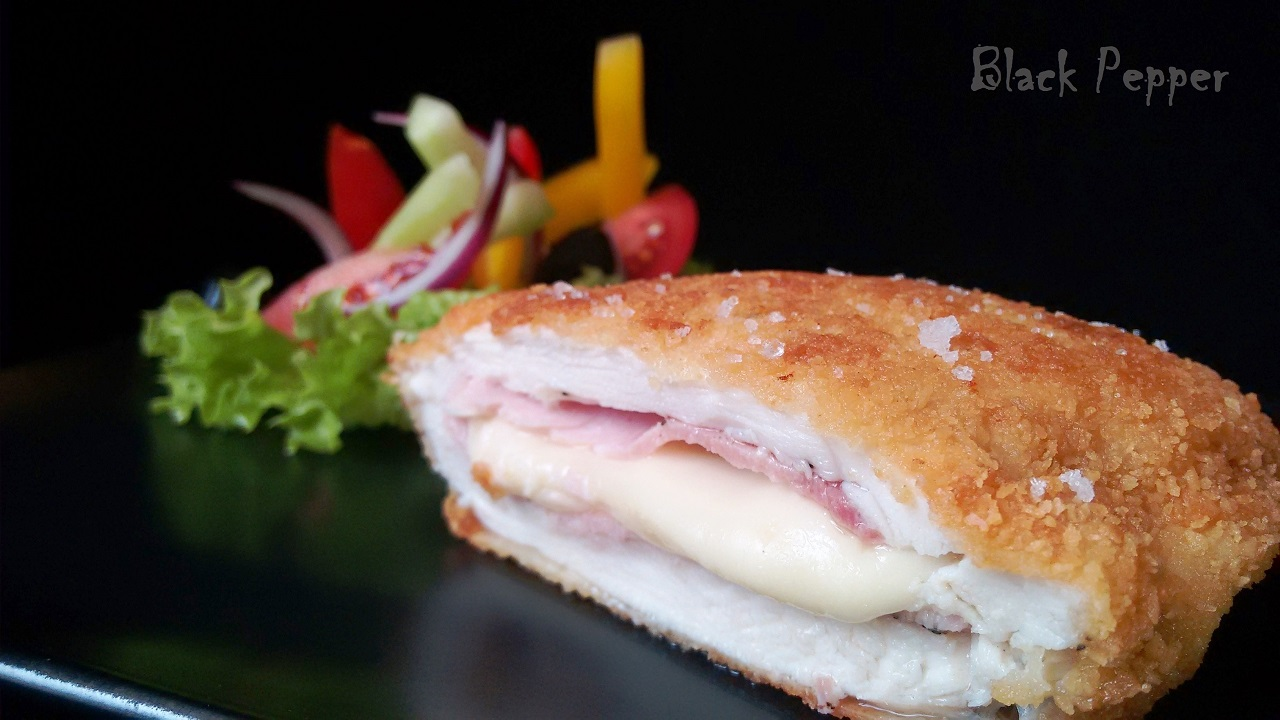 Chicken Breast with Cheese and Ham - French Cordon Bleu