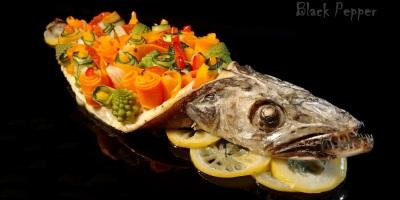 Рыба хек в духовке с овощами
