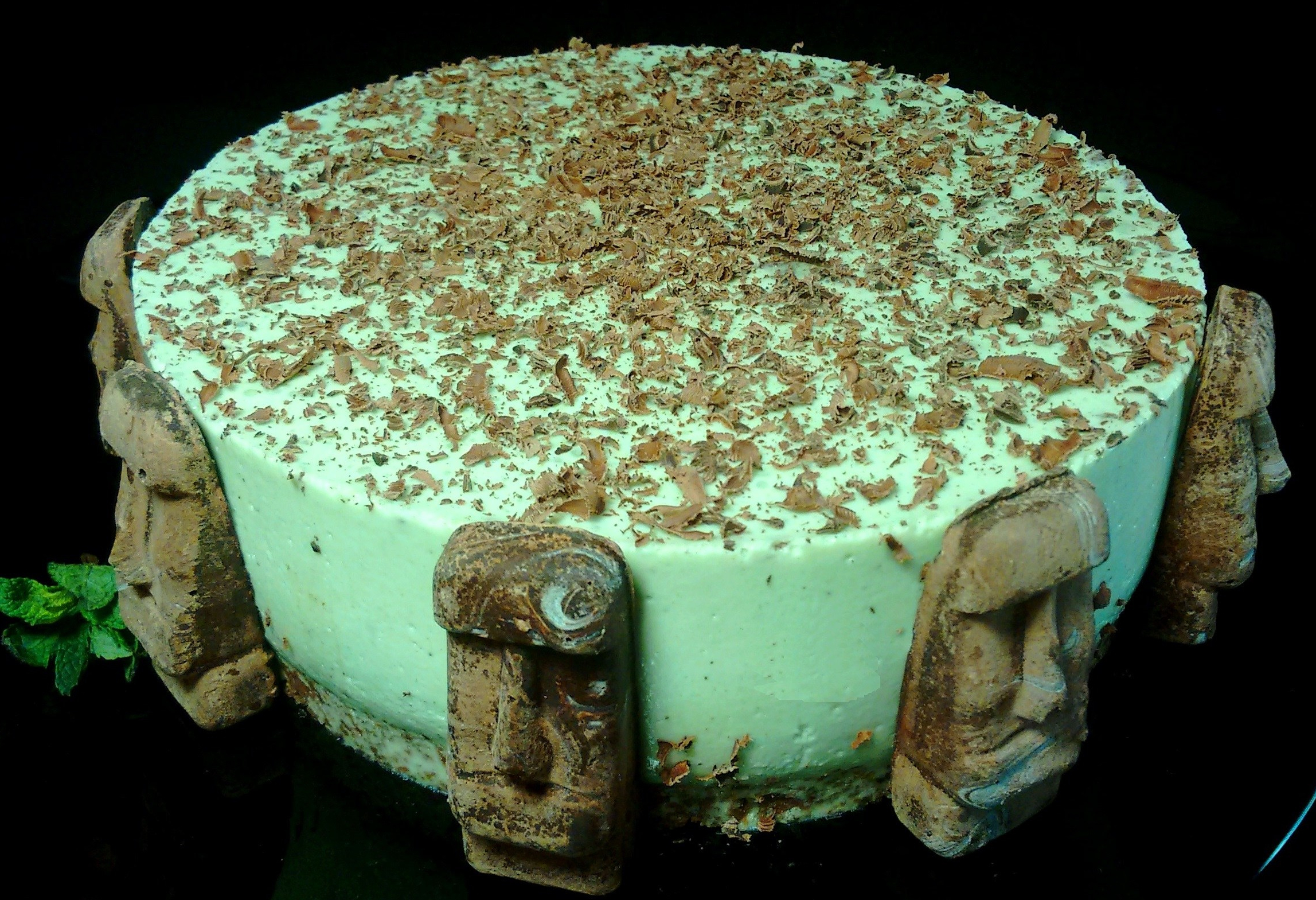 Mint Chocolate Cheesecake - a healthy, no flavors, no colorants mint cheesecake