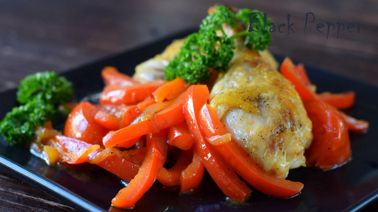 Chicken with Bell Pepper - Pollo Alla Romana
