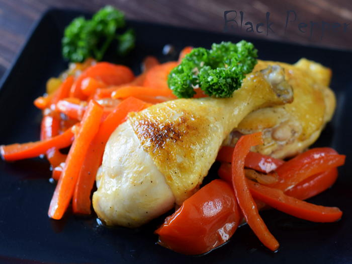 Chicken thighs with bell peppers are a healthy, gluten-free, and delicious chicken recipe