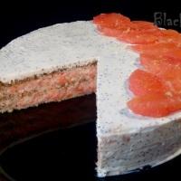 Бисквитный торт с грейпфрутом
