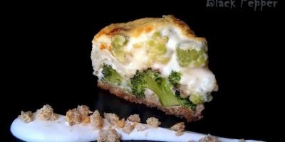 Гратен с брокколи и цветной капустой