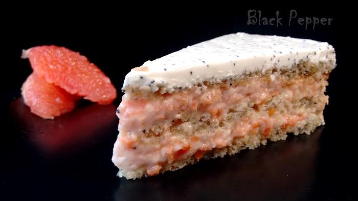 Мягкий муссовый торт с грейпфрутом