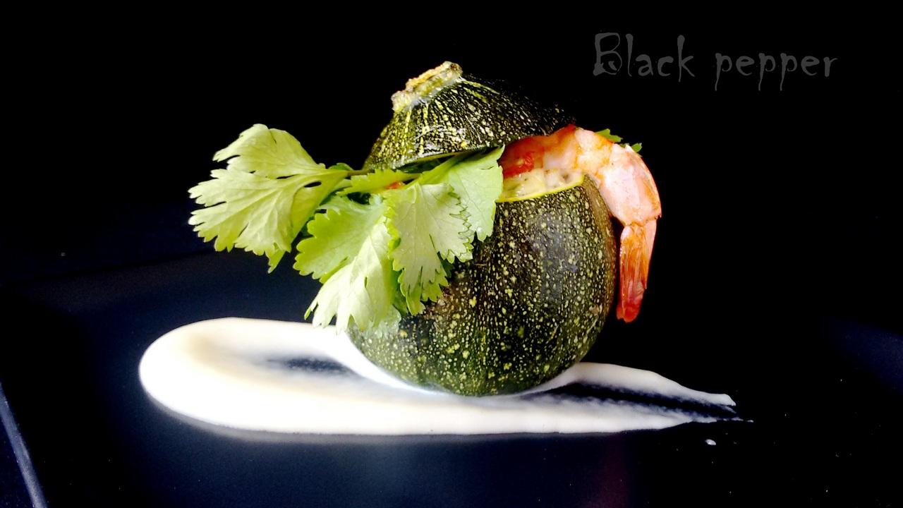 Shrimp Stuffed Zucchini