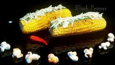 Гарнир из кукурузы с пикантным маслом