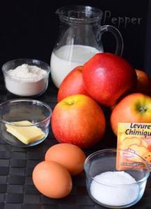 Пирог с яблоками невидимка ингредиенты