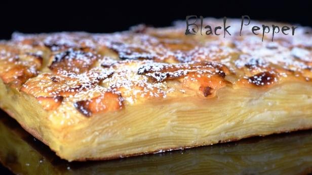 Итальянский пирог с яблоками невидимый