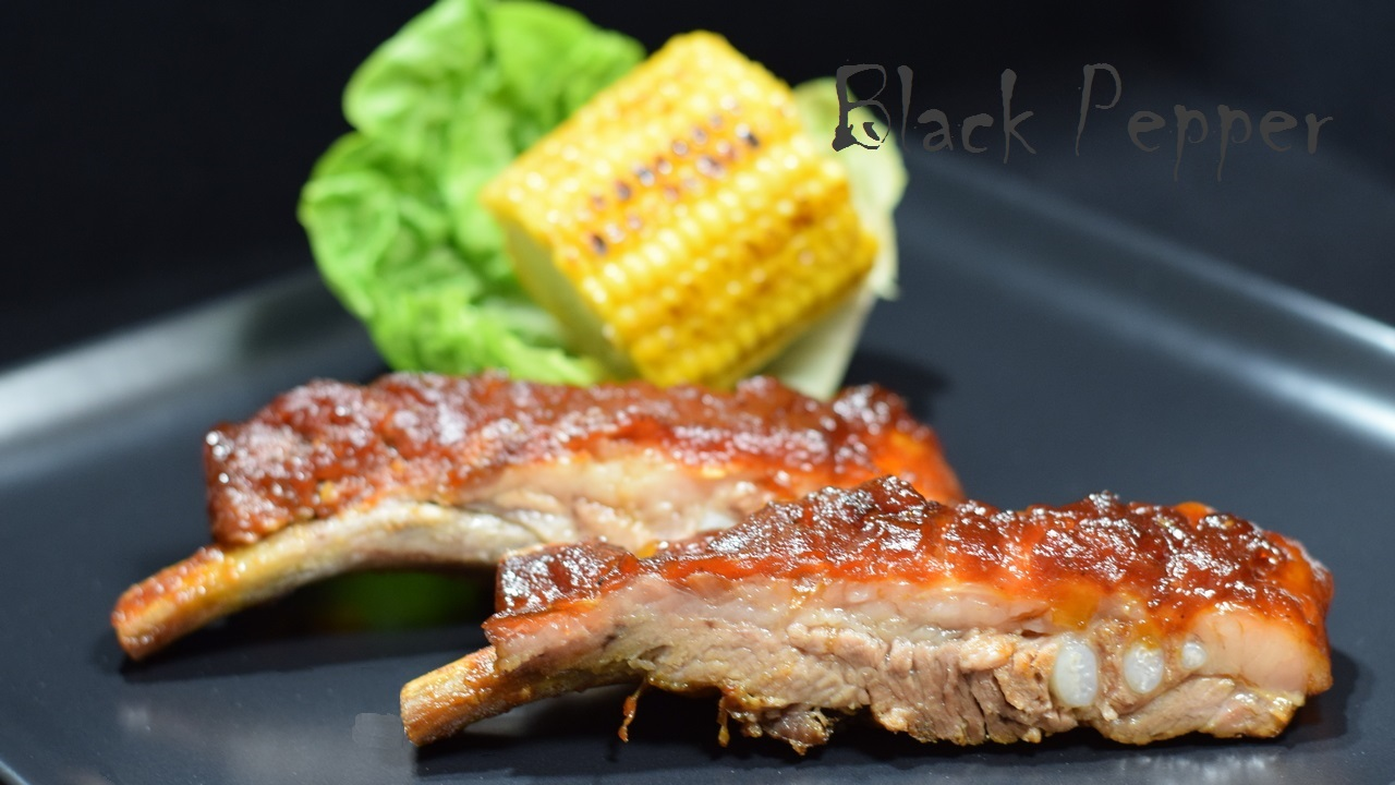 Baked Pork Ribs in Barbecue Sauce