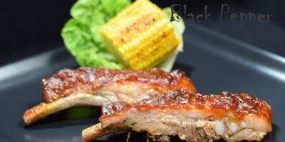 Свиные ребрышки в духовке с соусом барбекю