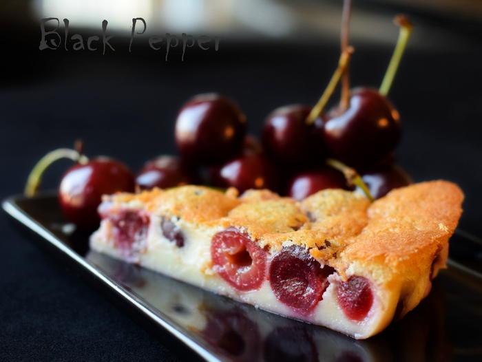Пирог с вишней (черешней) - французский клафути