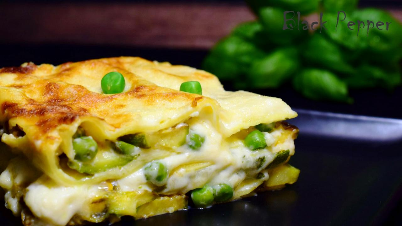 Zucchini Lasagna with Spicy Cheese