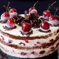 Шоколадный торт с вишней Черный лес