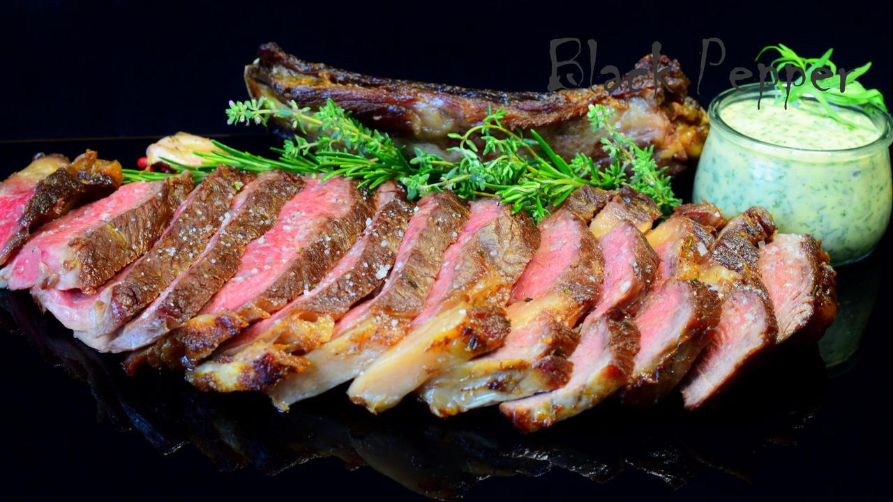 Steak Rib Eye with Herbs