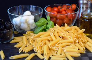 Теплый салат с пастой ингредиенты