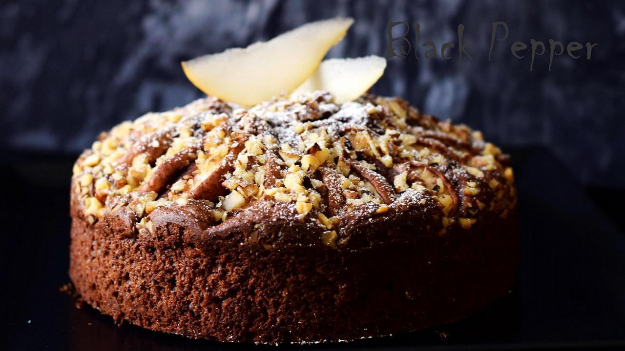 Dark Chocolate Pear Cake
