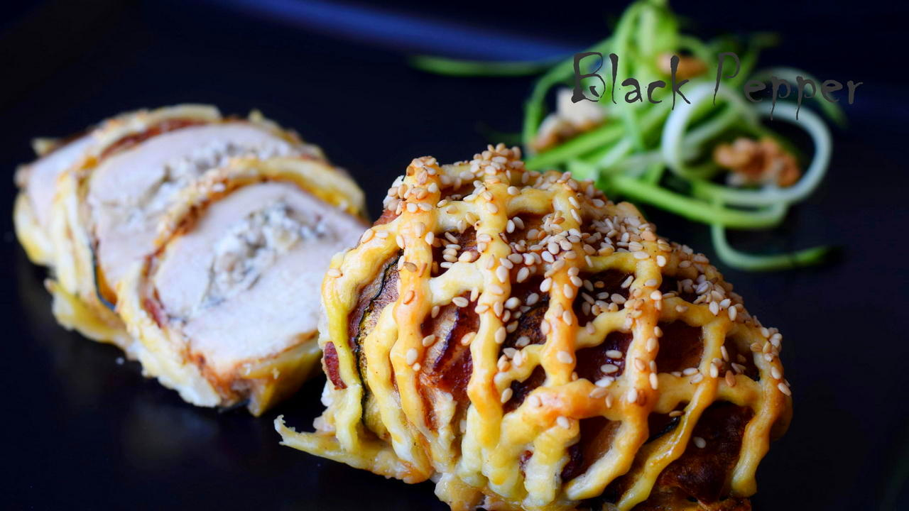 "Stuffed Chicken Breast with Cheese and Nuts - ""Braided Chicken"""