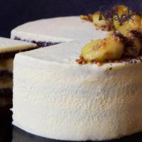 Банановый торт с кремом Пломбир