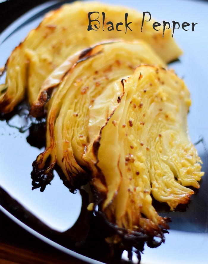Baked cabbage with mustard