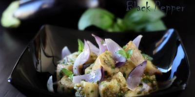 Салат из баклажанов с луком