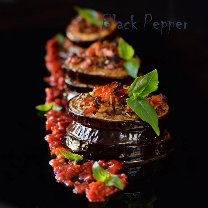 Roasted Eggplant & Tomatoes