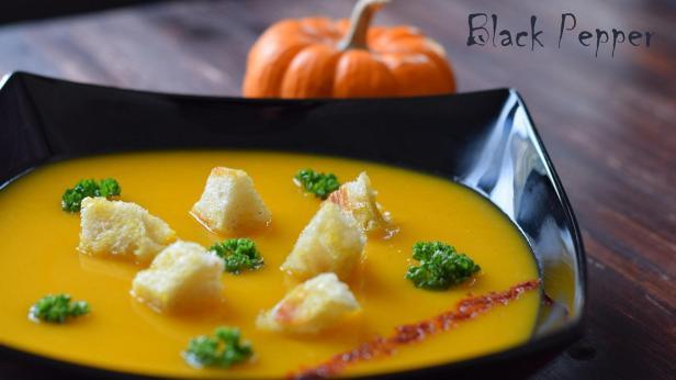 Тыквенный суп с корицей