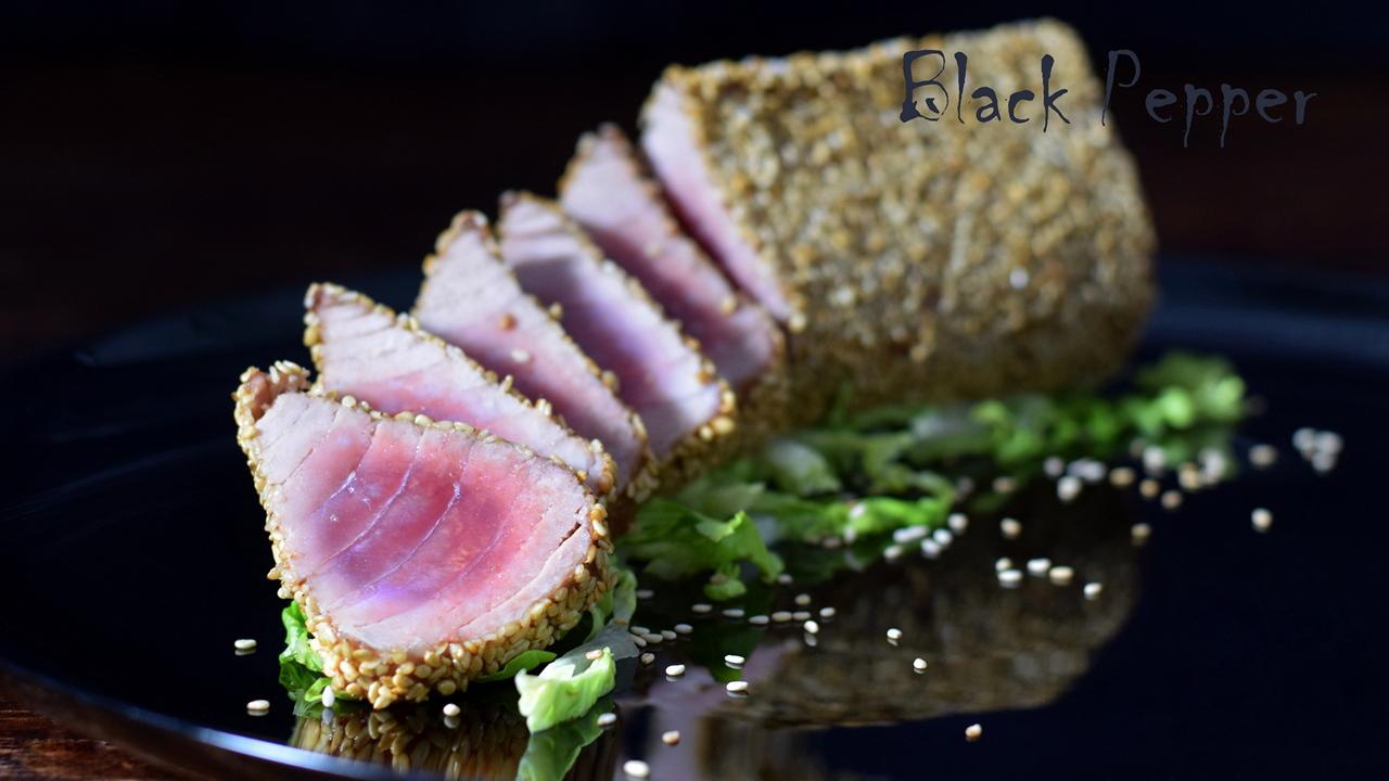Sesame Tuna Steak Tataki