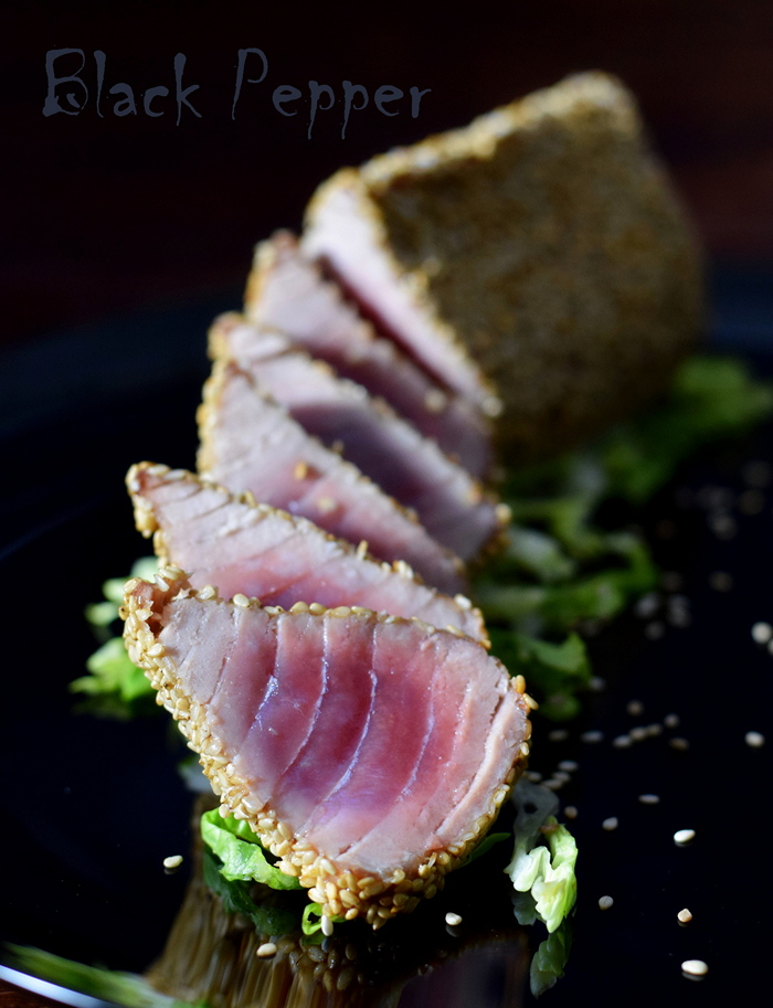 Sesame breaded tuna steak recipe