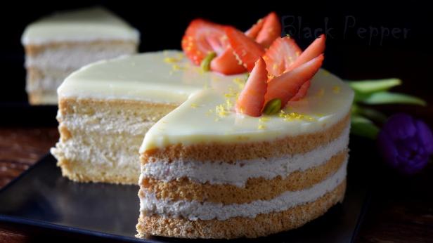 Торт кремом из йогурта