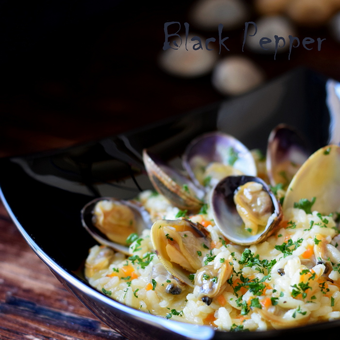 Ginger Mussels Risotto