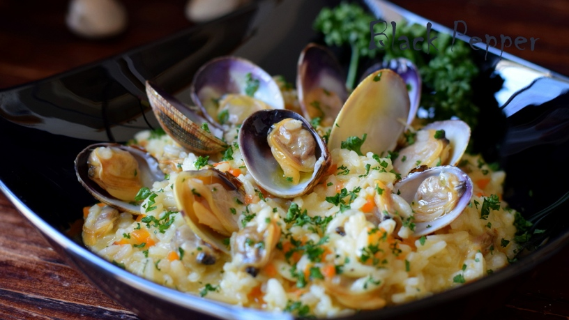 Risotto with Ginger and Clams