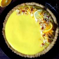 Песочный пирог с апельсиновым курдом