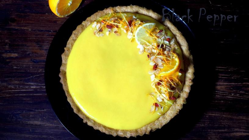 Песочный пирог с апельсиновым кремом