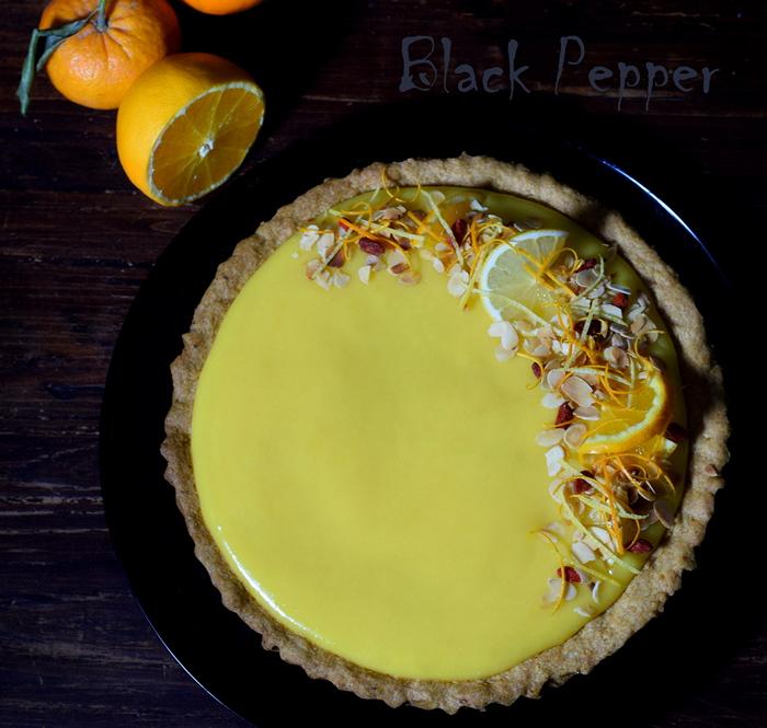 Тарт с апельсиновым курдом