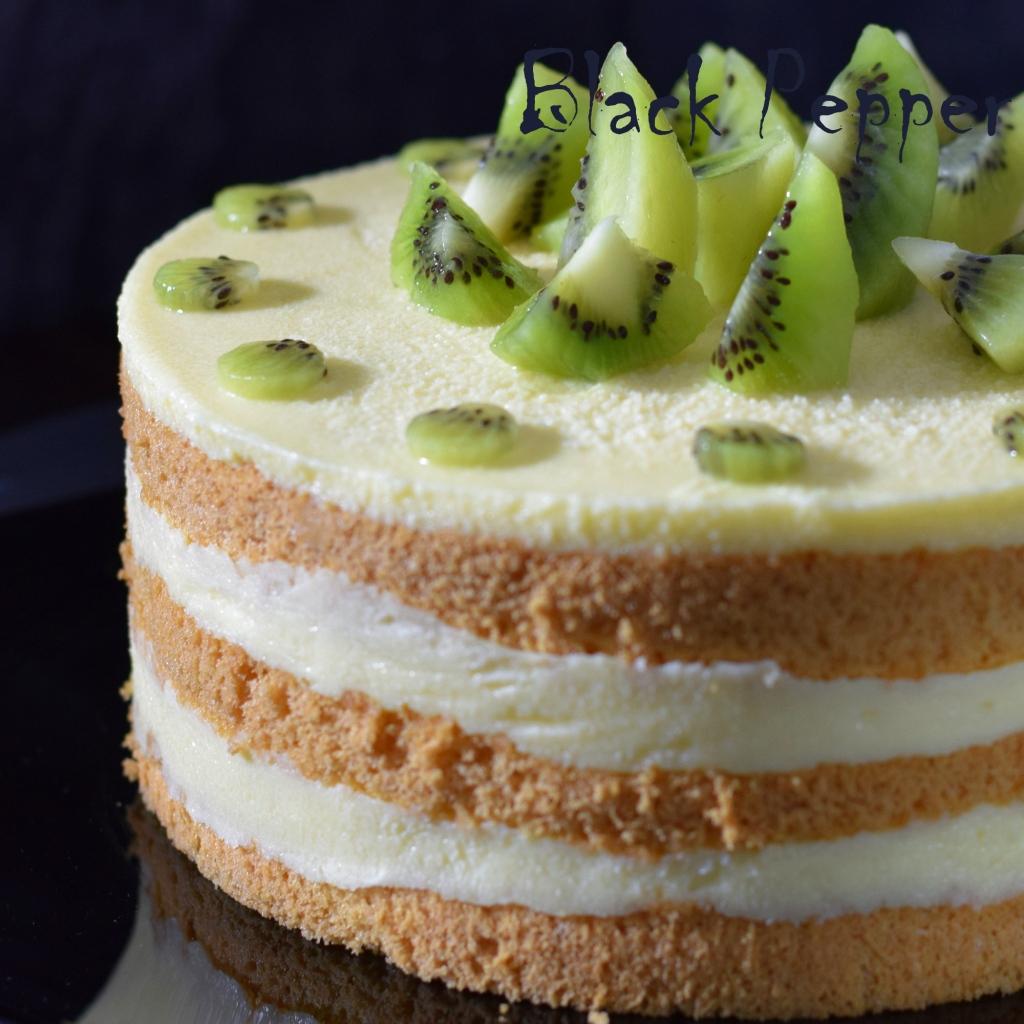 торт с имбирным сметанным кремом и киви